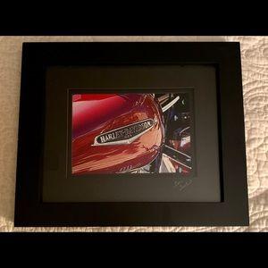Harley Davidson framed photo